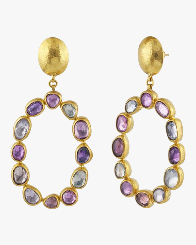 Gurhan Pointelle Open Sapphire Earrings 0