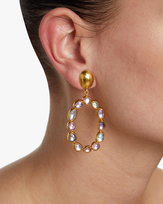 Gurhan Pointelle Open Sapphire Earrings 1