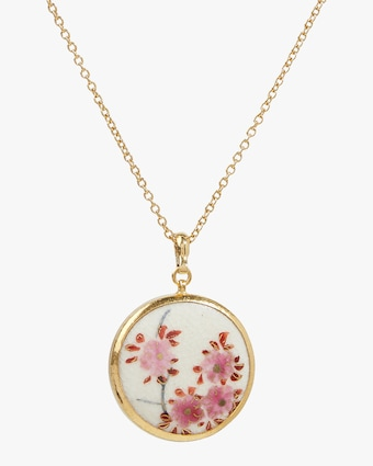 Floral Satsuma Pendant Necklace