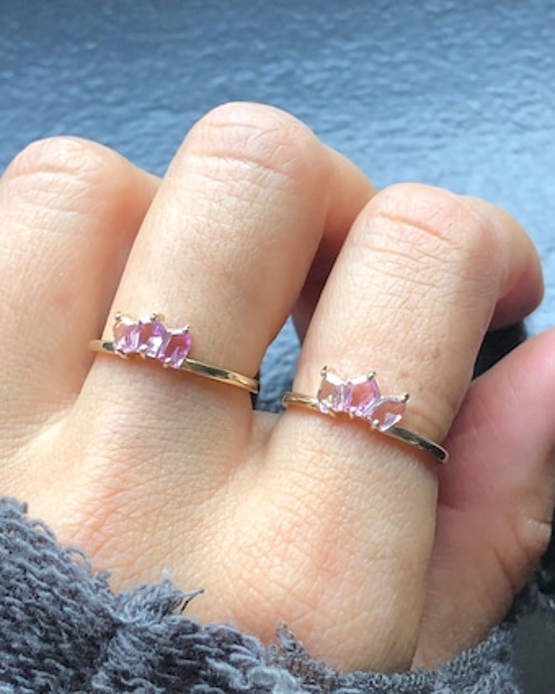 Petite Trio Sapphire Ring