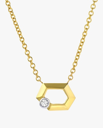 Wide Hexagon Necklace