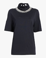 Christopher Kane Chain Tie-Neck Shirt 0