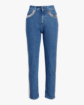 Crystal-Chain Skinny Jeans