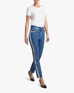 Christopher Kane Crystal-Chain Skinny Jeans 1