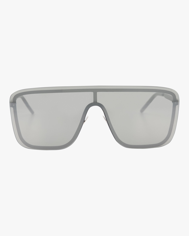 Saint Laurent 99mm Flat Front Shield Sunglasses 1