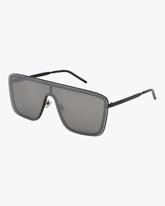 Saint Laurent 99mm Flat Front Shield Sunglasses 2