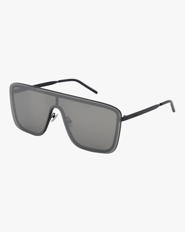 Saint Laurent 99mm Flat Front Shield Sunglasses 2