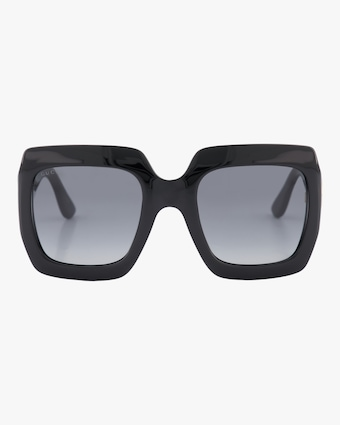 Gucci Embellished-Temple Oversized Rectangle Sunglasses 1