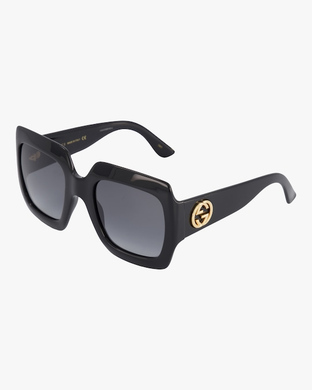 Gucci Embellished-Temple Oversized Rectangle Sunglasses 1