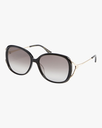 Cutout-Temple Oversize Sunglasses