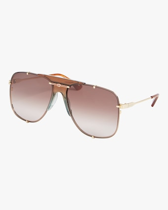 Nude-Nose Aviator Sunglasses