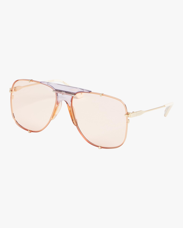 Nude-Nose Aviator Sunglasses