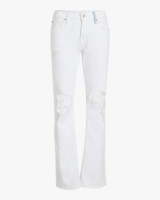 7 For All Mankind Low-Rise Straight Jeans 0