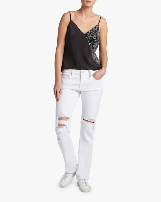 7 For All Mankind Low-Rise Straight Jeans 1