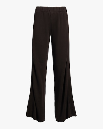 Satin Stripe Wide-Leg Pants