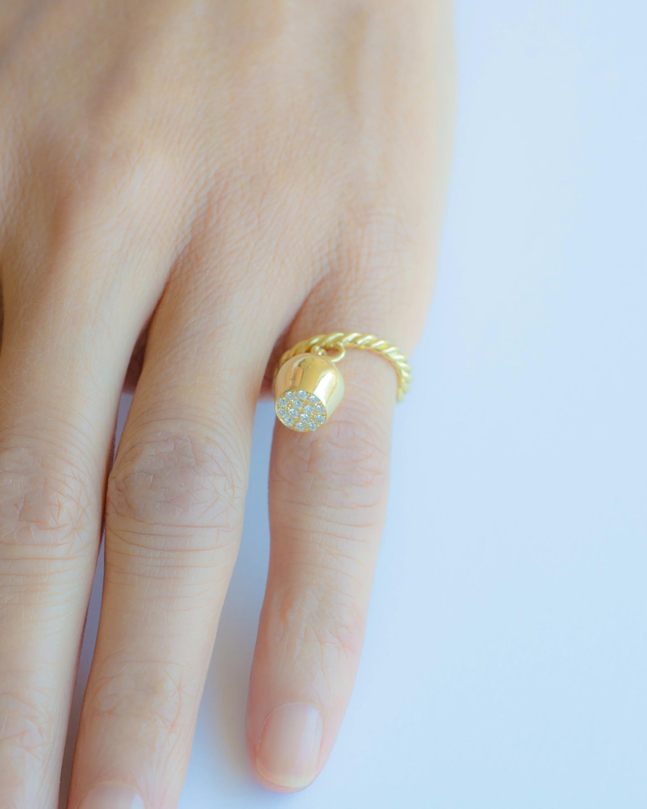 Haute Victoire Pavé Luna Charm Ring 2