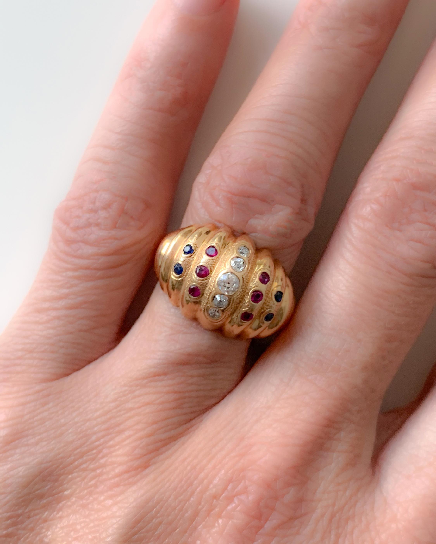 Haute Victoire Diamond, Ruby & Sapphire Ring 1