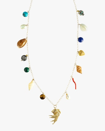 Haute Victoire Shell Charm Necklace 1