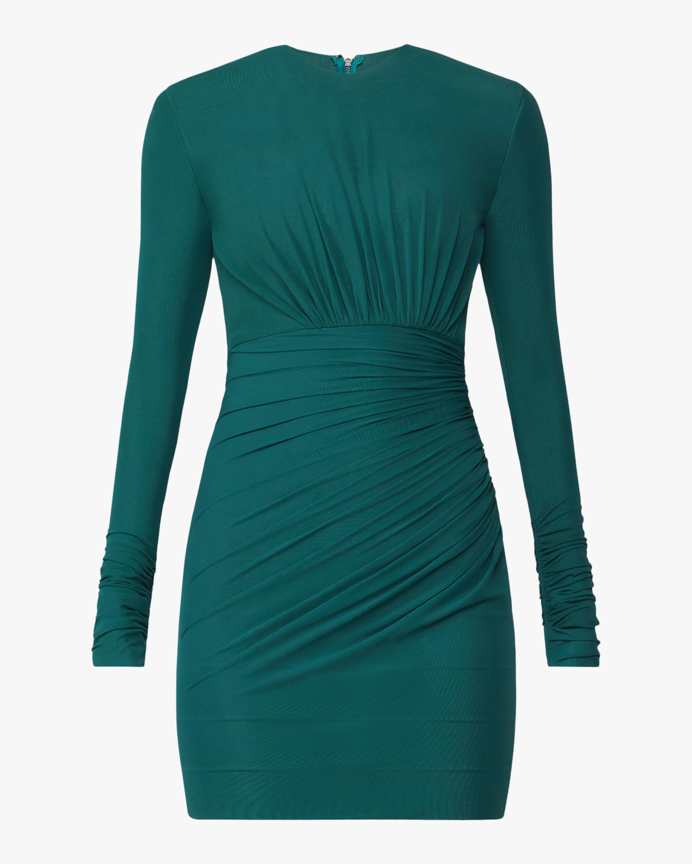 Draped Tulle Mini Dress