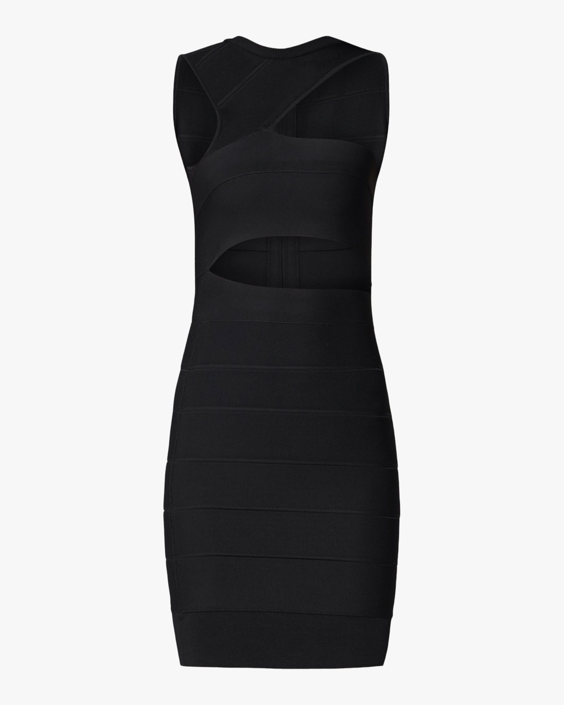 Asymmetrical Open-Shoulder Icon Dress