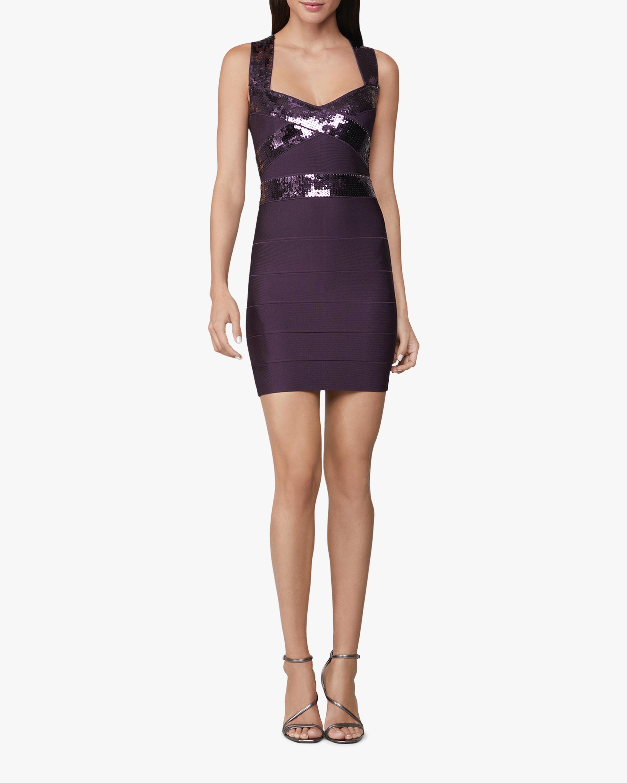 Criss Cross Sequin Mini Dress