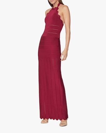 Scalloped-Edge Gown
