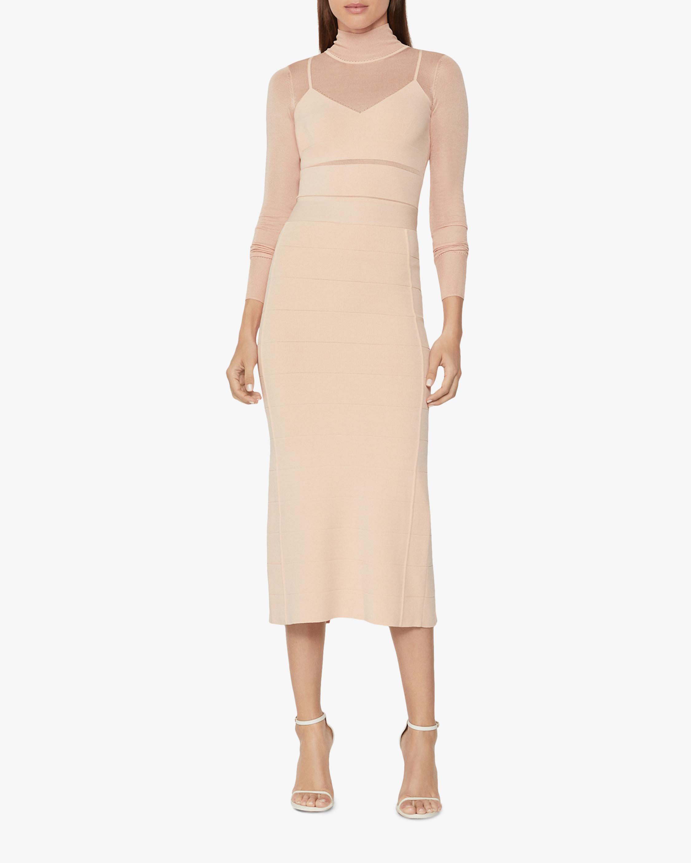 Spoty Sheer Midi Skirt