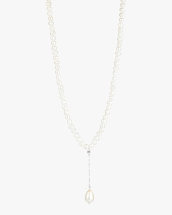 Linear Freshwater Pearl Pendant Necklace