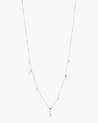 Five-Charm Station Necklace