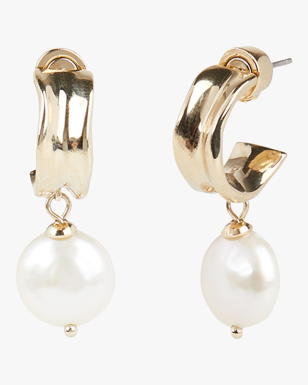 Carolee Freshwater Pearl Hoop Drop Earrings 0