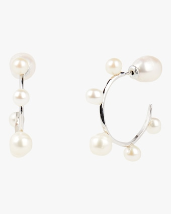 Carolee Freshwater Pearl Mini Hoop Earrings 1