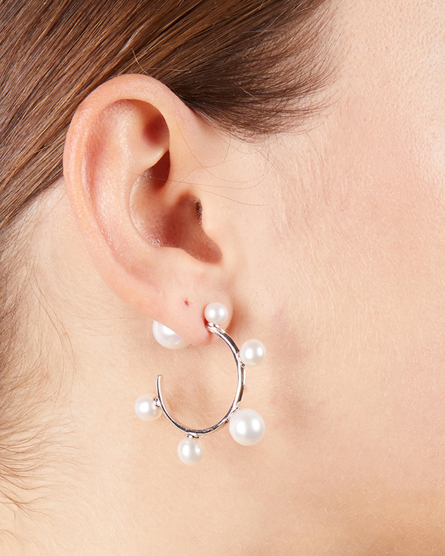 Carolee Freshwater Pearl Mini Hoop Earrings 1