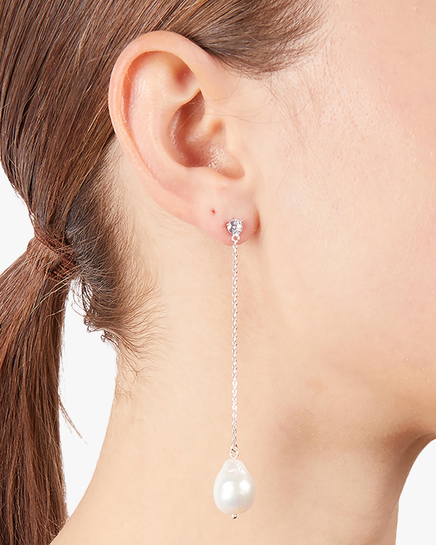 Carolee Linear Freshwater Pearl Drop Earrings 1