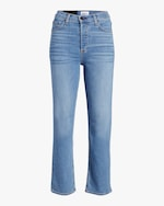 ASKK High-Rise Straight Cropped Jeans 0