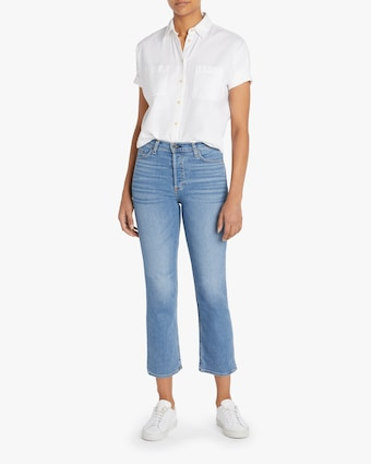 High-Rise Straight Cropped Jeans