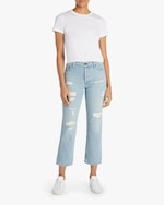 ASKK Distressed High-Rise Straight Jeans 1