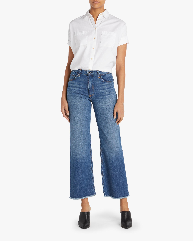 ASKK Cropped Wide-Leg Jeans 1
