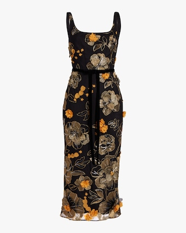 Sleeveless Scoop Neck Cocktail Dress