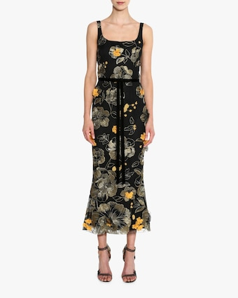 Marchesa Notte Sleeveless Scoop Neck Cocktail Dress 2