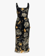 Marchesa Notte Sleeveless Scoop Neck Cocktail Dress 0