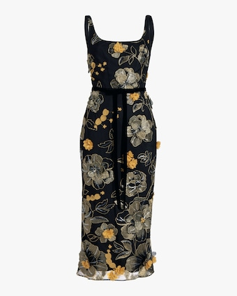 Marchesa Notte Sleeveless Scoop Neck Cocktail Dress 1
