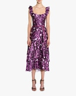 Marchesa Notte Charm Ruffle Cocktail Dress 1