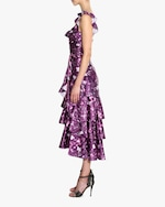 Marchesa Notte Charm Ruffle Cocktail Dress 2