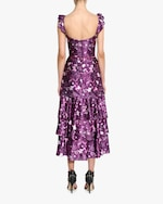 Marchesa Notte Charm Ruffle Cocktail Dress 3