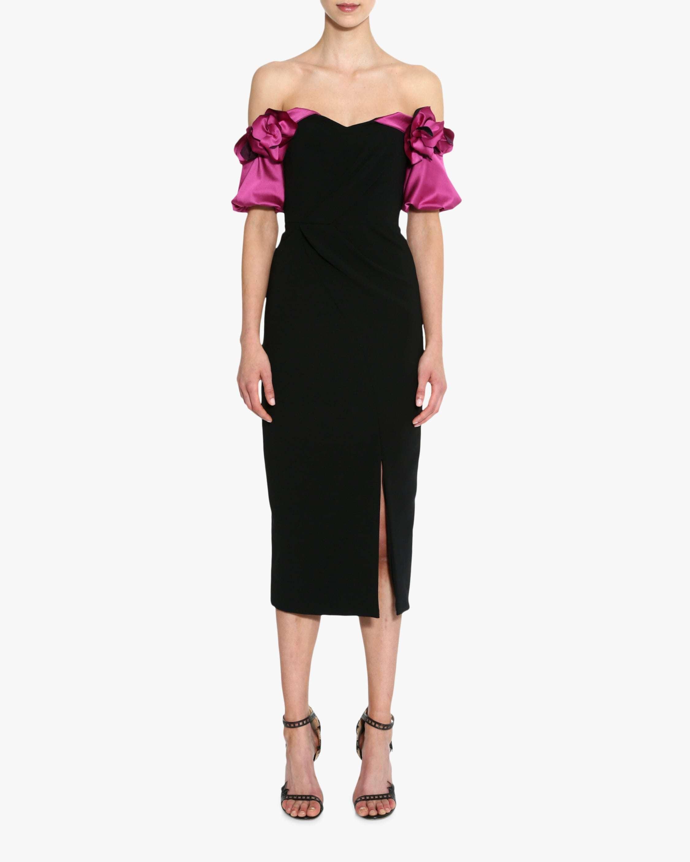 Marchesa Notte Off-Shoulder Cocktail Dress 1