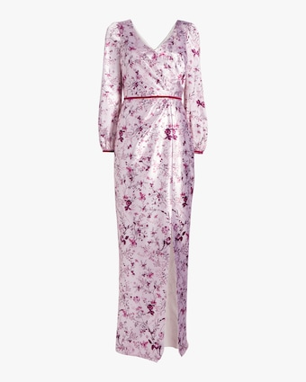 Bishop-Sleeve Charm Gown