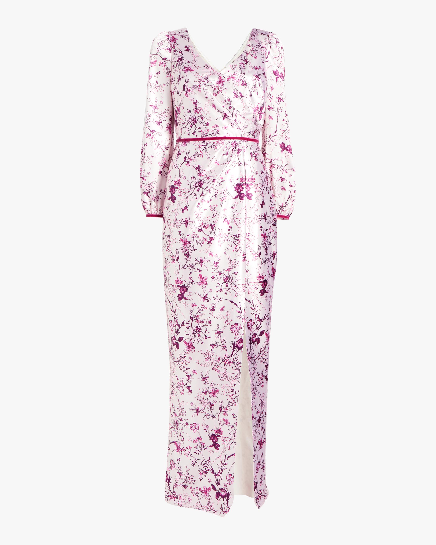 Marchesa Notte Bishop-Sleeve Charm Gown 1