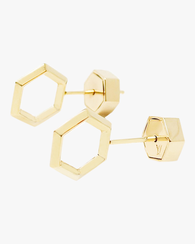 Small Hexagon Stud Earrings