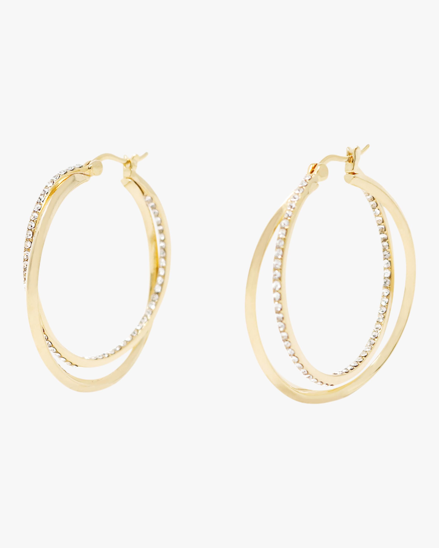 Intertwined Pavé Hoop Earrings