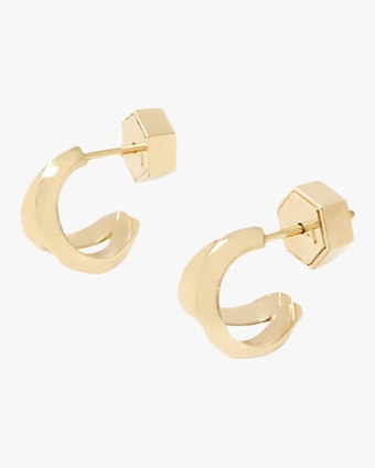 Duet Huggie Earrings